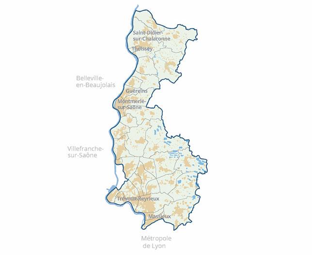 Carte SCOT Val Saône Dombes